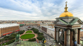 Tower and view from the colonnade of St. Isaac's Cathedral, St.Petersburg Stock Photography