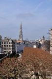 Tower view in Place Royale, Bruxelles Royalty Free Stock Photos