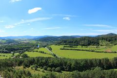 Tower View of Rabi Castle, Czech Republic stock images