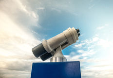 Tower viewer against blue cloudy sky Stock Photography