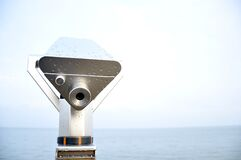 Tower Viewer Overlooking Ocean Royalty Free Stock Images