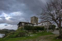 Tower of the village of Lapela in Monção stock photos