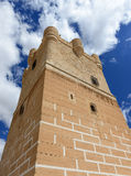 Tower at Villena Castle Royalty Free Stock Photo