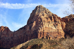 Tower of Virgin Zion Canyon National Park Utah Royalty Free Stock Photography