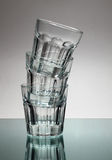 Tower of vodka glasses. A tower made of empty vodka glasses Royalty Free Stock Image