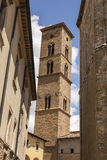 Tower of Volterra cathedral, Torre Campanaria, Tuscany, Italy Stock Image