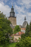 Tower of the Walburgis church in Zutphen Royalty Free Stock Image