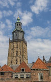 Tower of the Walburgis church in Zutphen Royalty Free Stock Images