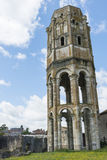 Tower and Wall of Abbey in Charroux Royalty Free Stock Image