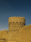 Tower in the wall around Dowlat Abad Garden, Yazd Iran Stock Photo
