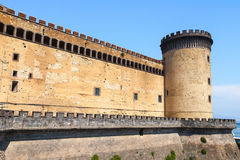 Tower and wall of the Castel Nouvo in Naples Stock Photography