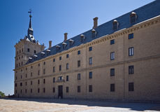 Tower and wall of Escorial Stock Photo
