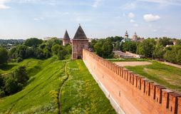 Tower and wall of the Kremlin Stock Photo