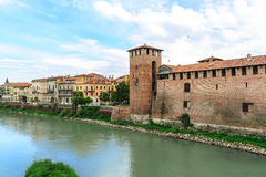 Tower and wall at Verona, Italy Royalty Free Stock Photography