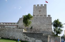 A Tower of Walls of Constantinople Stock Photo