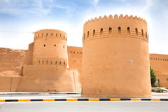Tower and walls of  fort i, Yazd, Iran Royalty Free Stock Photography