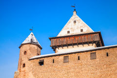 Tower and walls of Herman castle in Narva. Estonia Royalty Free Stock Image
