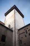 Tower and walls of the Herman castle in Narva. Estonia Royalty Free Stock Photo
