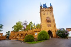 Tower and walls in inner yard of Hohenzollern Stock Photo