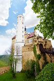 Tower and walls of the Lichtenstein castle Royalty Free Stock Image