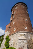 Tower and walls of the Wavel Castle Royalty Free Stock Photo