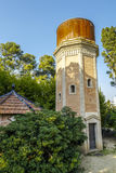 Tower of Water, old deposit of the park, Can Soley Badalona Barcelona, Spain Royalty Free Stock Images