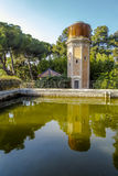 Tower of Water, old deposit of the park, Can Soley Badalona Barcelona, Spain Royalty Free Stock Image