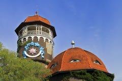 Tower water treatment facilities, the main symbol of the city Svetlogorsk Royalty Free Stock Image