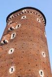 Tower of Wawel Castle stock image