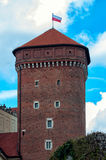 Tower at Wawel Castle in Krakow, May 2017 Krakow, Poland Royalty Free Stock Photos