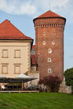 Tower of the Wawel Castle in Krakow Royalty Free Stock Images
