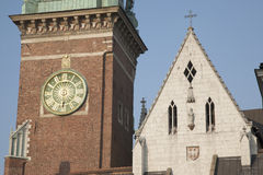 Tower of Wawel Hill Cathdral, Krakow Stock Photography