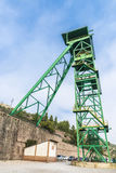 Tower of a well extraction of a mine, Spain Stock Photos
