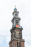 Tower of Wester Kerk, Amsterdam, Netherlands Stock Photo