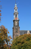 Tower of the Westerkerk church in Amsterdam, Holland Stock Image