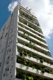 Tower 25 white green balcony in Nicosia Stock Photo