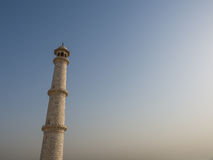 Tower of white Marble. An isolated tower of white marble, Taj mahal Stock Image