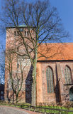 Tower of the Wilhadi church in the historical center of Stade Royalty Free Stock Photo