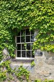 Tower Window. Window in an ivory covered tower at Castle Hill in Ipswich, MA royalty free stock photo