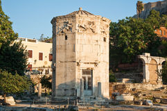 Tower of the Winds in Ancient Agora. Greece. Roman Agora and the Tower of the Winds on August 4, 2013 in Athens Stock Photo