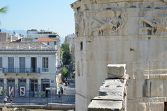 The tower of the winds Athens Greece Acropolis travel destination tourism Royalty Free Stock Images