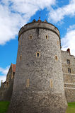 Tower of Windsor Castle. A tower in a corner of Windsor Castle in England Stock Photos