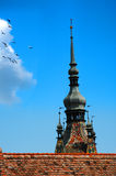 Tower and wings Royalty Free Stock Images