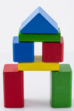 Tower from Wooden Bricks. Tower from colorfull woooden bricks Stock Photos