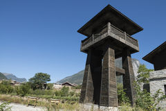 Watchtower in china Royalty Free Stock Images