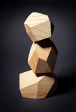 Tower from wooden elements. Tower from three wooden elements Stock Photos
