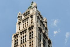 Woolworth Building - New York City. Tower of the Woolworth Building in New York City Stock Images