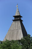 Tower with  woooden roof Royalty Free Stock Image