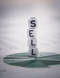 Tower word sell on diagram stock report Royalty Free Stock Image