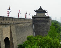 Tower on The Xi'an Circumvallation Stock Images